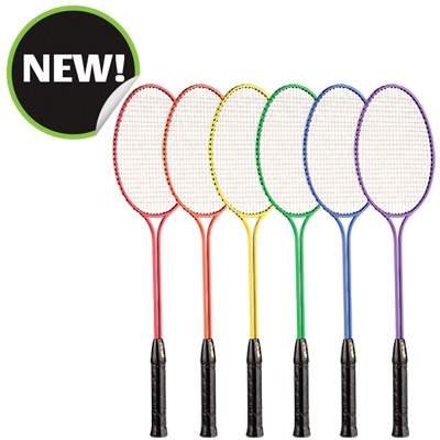 Champion Sports BR30SET 26 x 8 x 1 in. All Steel Frame Badminton Racket Assorted Colors