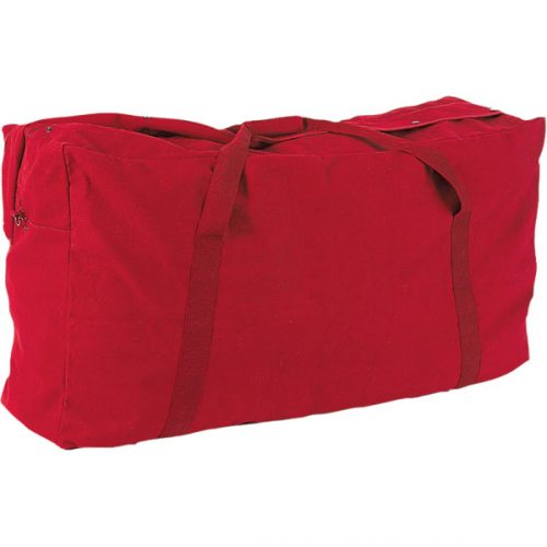 Champion Sports CB4224RD 22 oz Oversized Canvas Zippered Duffle Bag Red