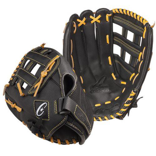Champion Sports CBG960RH 14 in. Physical Education Glove Series - Full Right Black