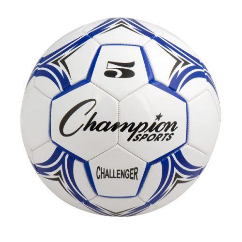Champion Sports CH5BL Challenger Series Soccer Ball Royal & White - Size 5
