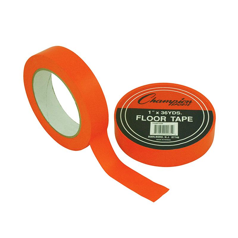 Champion Sports CHS1X36FTORBN Floor Marking Tape Orange - Pack of 6