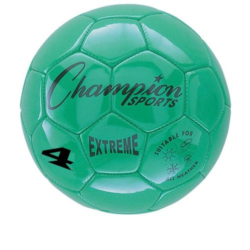 Champion Sports CHSEX4GN 4 Size Extreme Series Soccer Ball - Green
