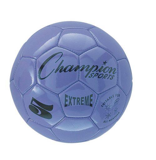Champion Sports CHSEX5PR 5 Size Extreme Series Soccer Ball - Purple