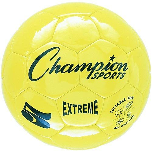 Champion Sports CHSEX5YL 5 Size Extreme Series Soccer Ball - Yellow