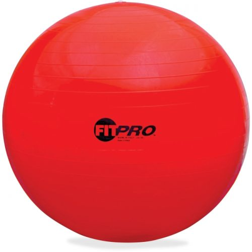 Champion Sports CSIFP65 65 cm Training & Exercise Ball - Red