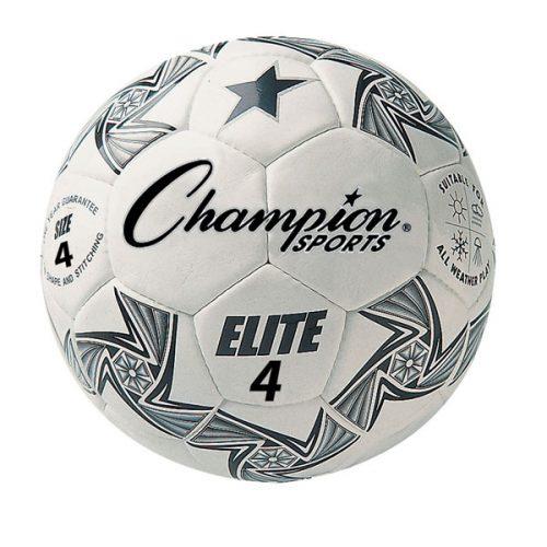 Champion Sports ELITE4 Elite Soccer Ball White & Black - Size 4