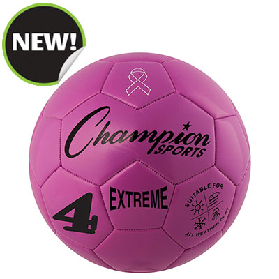 Champion Sports EX4PK 8.25 in. Extreme Series Size 4 Soccer Ball Pink