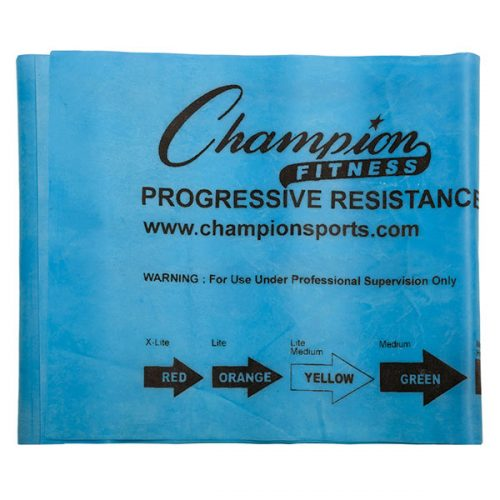 Champion Sports FB4B 4 ft. Therapy & Exercise Flat Band Royal Blue - Medium & Heavy