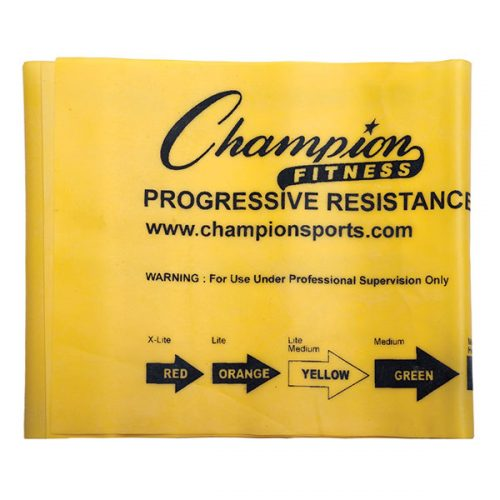 Champion Sports FB4Y 4 ft. Therapy & Exercise Flat Band Yellow - Light & Medium