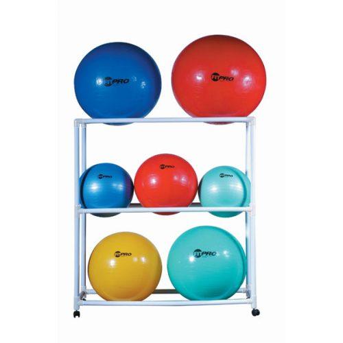 Champion Sports FPR1 Ball Storage Cart White