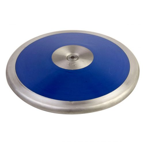 Champion Sports LS10 1.0 kg Lo Spin Competition ABS Plastic Discus Royal Blue & Silver