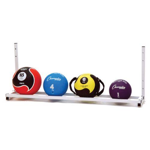 Champion Sports MBR6 Wall Mount Medicine Ball Rack White