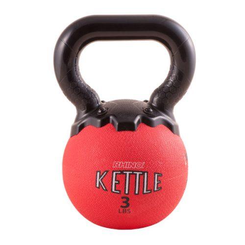 Champion Sports MKB3 3 lbs Mini Rhino Kettle Bell Red