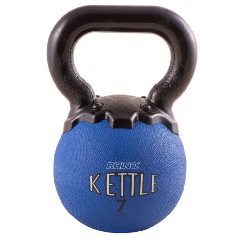 Champion Sports MKB7 7 lbs Mini Rhino Kettle Bell Blue