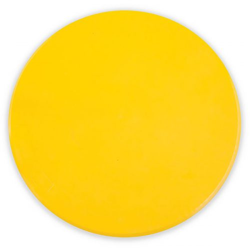 Champion Sports MSPYL 9 in. Poly Spot Marker Yellow - Pack of 12