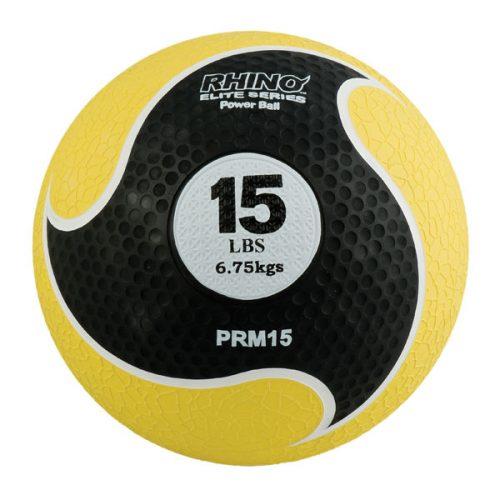 Champion Sports PRM15 15 lbs Rhino Elite Medicine Ball Yellow