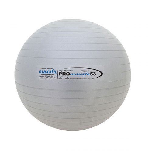 Champion Sports PRX53 37 in. Pro Maxafe Training & Exercise Ball Metallic Grey