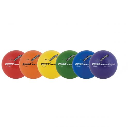 Champion Sports RS64SET 6.3 in. Rhino Skin Ball Set Multicolor - Set of 6 - 165 g