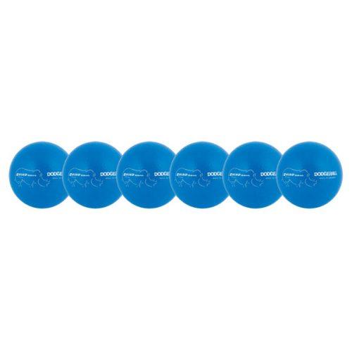 Champion Sports RXD6NBLSET 6.3 in. Rhino Skin Dodgeball Set Neon Blue - Set of 6