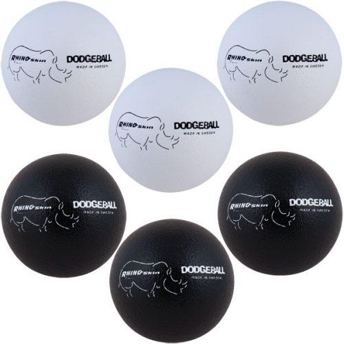 Champion Sports RXD7BWSET 7 in. Rhino Skin Dodgeball Set 3 White & 3 Black - Set of 6