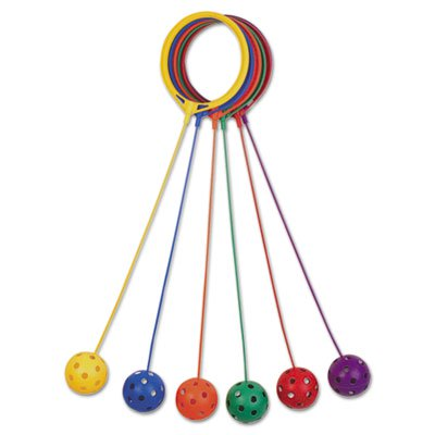Champion Sports SBSET Swing Ball Set Plastic Assorted Colors 6 per Set
