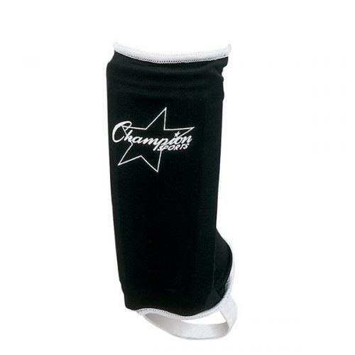Champion Sports SHY Sock Type Shinguard Black & White - Youth Large