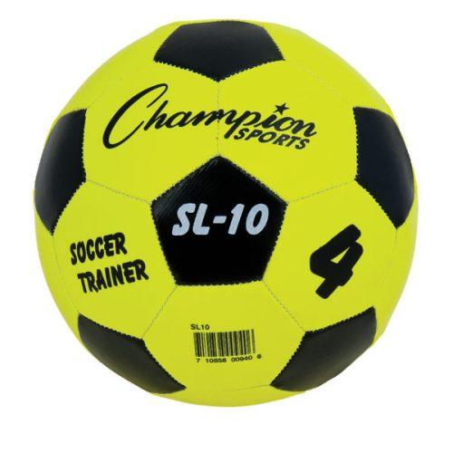 Champion Sports SL10 Trainer Soccer Ball Yellow & Black - Size 4