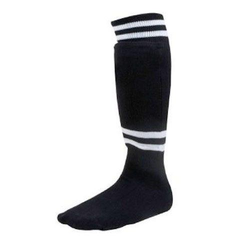 Champion Sports SL4B Youth Sock Style Soccer Shinguard Black - Age 4-6