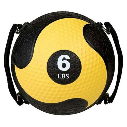 Champion Sports SMD6 6 lbs Rhino Ultra Grip Medicine Ball Yellow