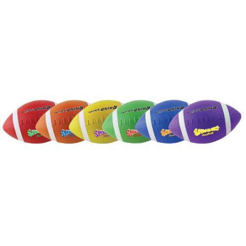 Champion Sports SQFSET Rhino Skin Super Squeeze Football Set Multicolor - Set of 6
