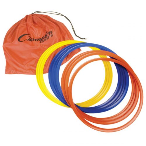 Champion Sports SRG12 16 in. Speed Ring Set 4 Red & Yellow & Blue