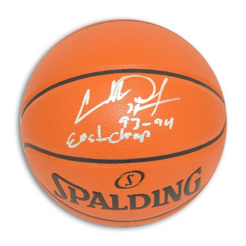 "Charles Oakley New York Knicks Autographed Indoor / Outdoor Basketball Inscribed ""93-94 East Champ"