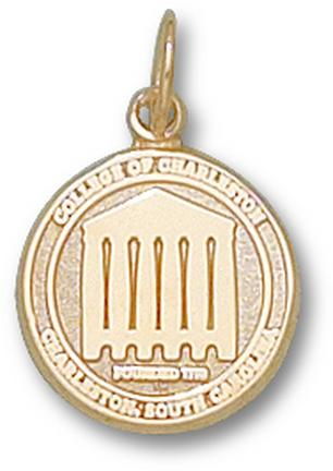 """Charleston Cougars """"Seal"""" 1/2"""" Charm - 10KT Gold Jewelry"""