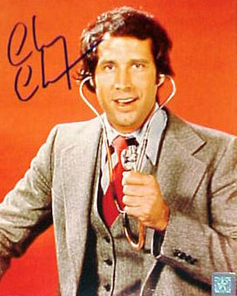 """Chevy Chase Autographed """"Saturday Night Live"""" 8"""" x 10"""" Photograph (Unframed)"""