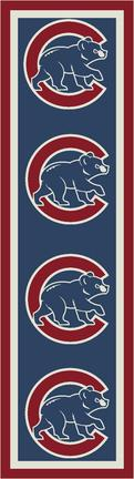 """Chicago Cubs 2' 1"""" x 7' 8"""" Team Repeat Area Rug Runner"""