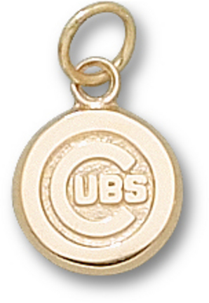 """Chicago Cubs 3/8"""" """"C Cubs"""" Charm - 10KT Gold Jewelry"""