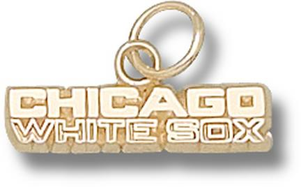 """Chicago White Sox """"Chicago White Sox"""" 3/16"""" Charm - 10KT Gold Jewelry"""