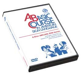 Cicso Independent DVD349 A Basic Course in American Sign Language - 4-Disc DVD ABC & ASL Series