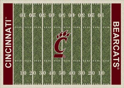 "Cincinnati Bearcats 3' 10"" x 5' 4"" Home Field Area Rug"