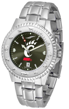 Cincinnati Bearcats Competitor AnoChrome Men's Watch with Steel Band