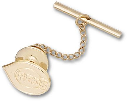 "Cincinnati Reds 1/2"" ""C Reds"" Logo Tie Tac - 10KT Gold Jewelry"