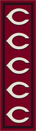 "Cincinnati Reds 2' 1"" x 7' 8"" Team Repeat Area Rug Runner"