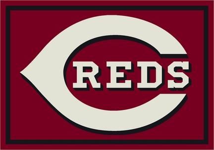 """Cincinnati Reds 3'10"""" x 5'4"""" Team Spirit Area Rug"""