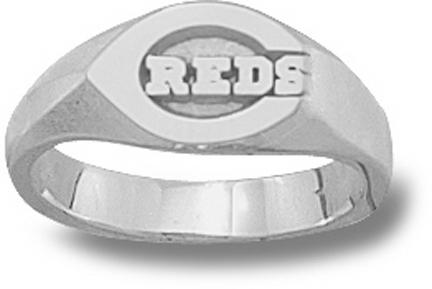 """Cincinnati Reds Polished """"C Reds"""" Ladies' Ring Size 6 3/4 - Sterling Silver Jewelry"""