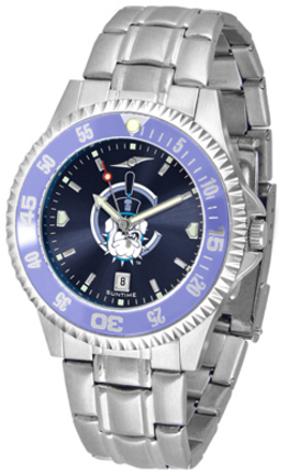 Citadel Bulldogs Competitor AnoChrome Men's Watch with Steel Band and Colored Bezel
