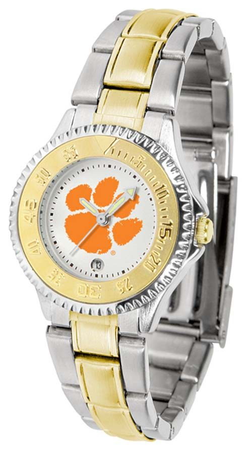 Clemson Tigers Competitor Ladies Watch with Two-Tone Band