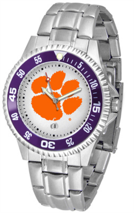 Clemson Tigers Competitor Watch with a Metal Band
