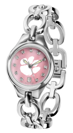 Clemson Tigers Eclipse Ladies Watch with Mother of Pearl Dial