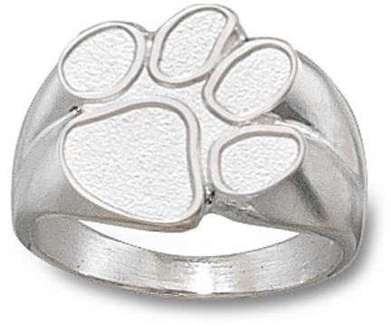 "Clemson Tigers ""Paw"" 5/8"" Men's Ring Size 10 1/2 - Sterling Silver Jewelry"