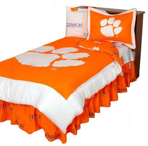 Clemson Tigers Reversible Comforter Set (Queen)